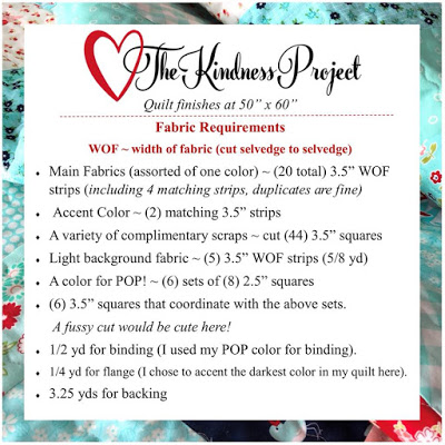 The Kindness Project by Terri at Sweet Treasures Quilts