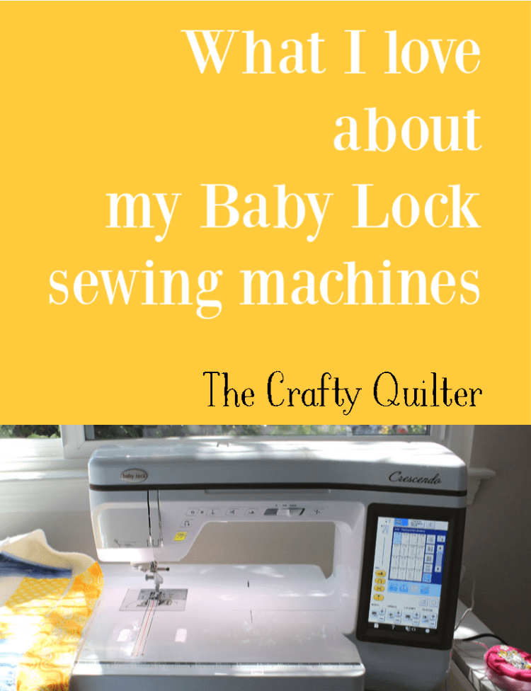 I recently purchased two new sewing machines.  Check out what I love about my Baby Lock sewing machines (and a few things I don't love).