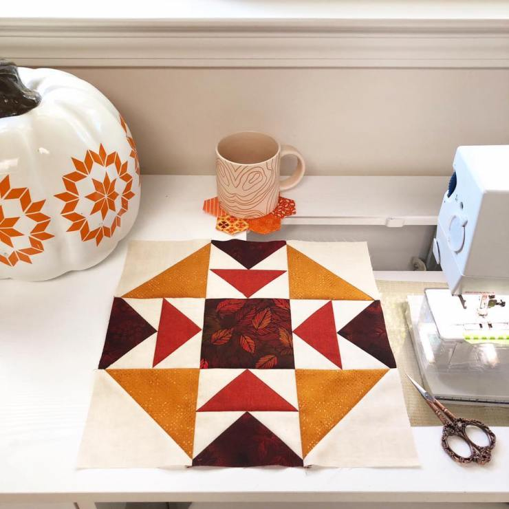 Fall is in the sewing room at The Crafty Quilter.