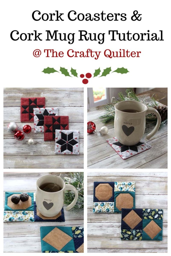 Check out these quick & easy cork fabric projects at The Crafty Quilter.  This Cork coaster and cork mug rug tutorial are Perfect for last minute gifts!