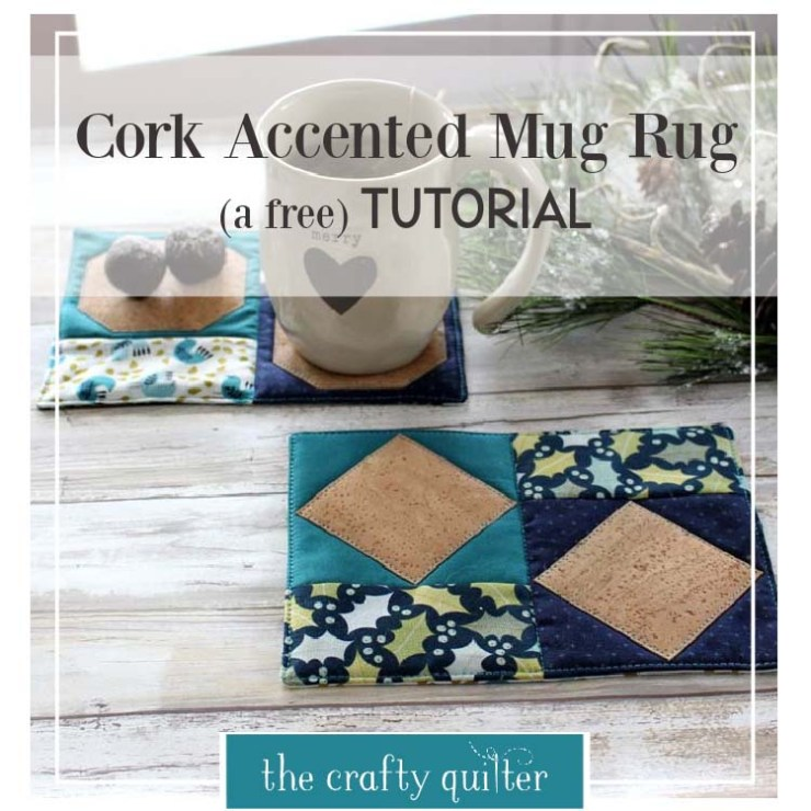 Check out these quick & easy cork fabric projects at The Crafty Quilter.  This cork mug rug tutorial is Perfect for last minute gifts!