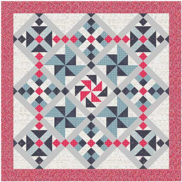 Possibilities Quilt Option 3 in Art Gallery Fabrics.  Pattern by Julie Cefalu @ The Crafty Quilter.