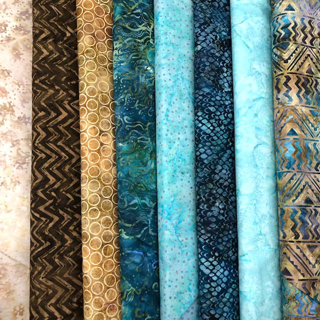 Batiks used for my Possibilities Quilt @ The Crafty Quilter