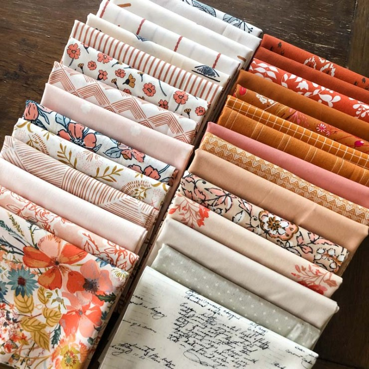 Fall Fabric bundle from Lo & Behold Stitchery - photographed by @ The Crafty Quilter.