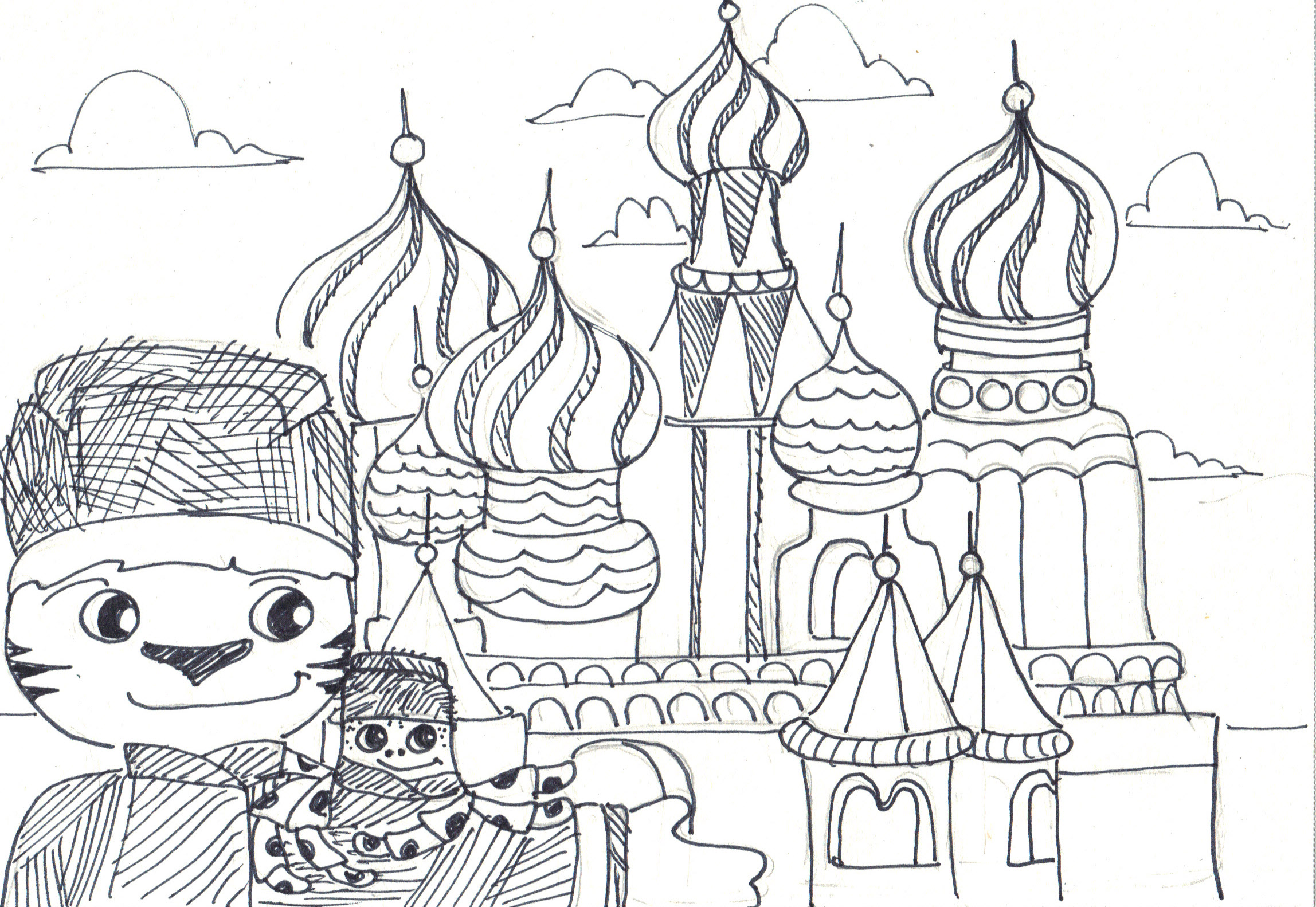 St Basil Cathedral Coloring Pages Sketch Coloring Page