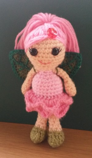 Rose Flower Fairy crochet pattern by Janferie MacKintosh