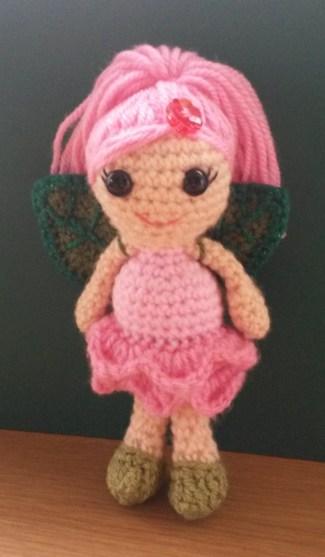 Rose Fairy Crochet Doll