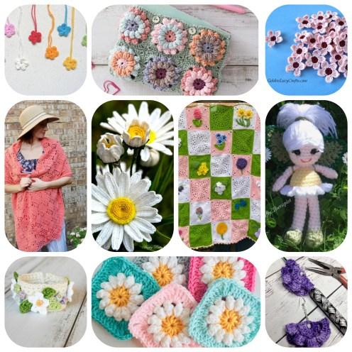Floral crochet patterns round-up