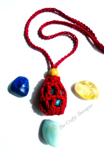 Crochet Crystal Keeper Necklace Pattern by The Crafty Therapist