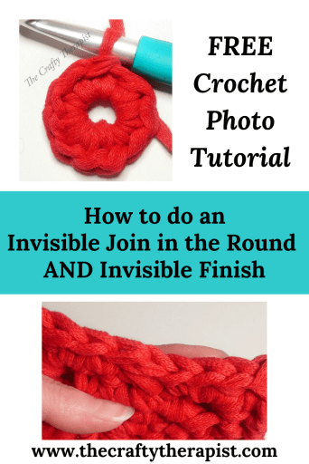 Pinterest Pin Crochet tutorial Invisible Join in the Round and Invisible Finish