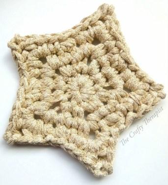 Crochet Star Coaster in Gold free crochet pattern