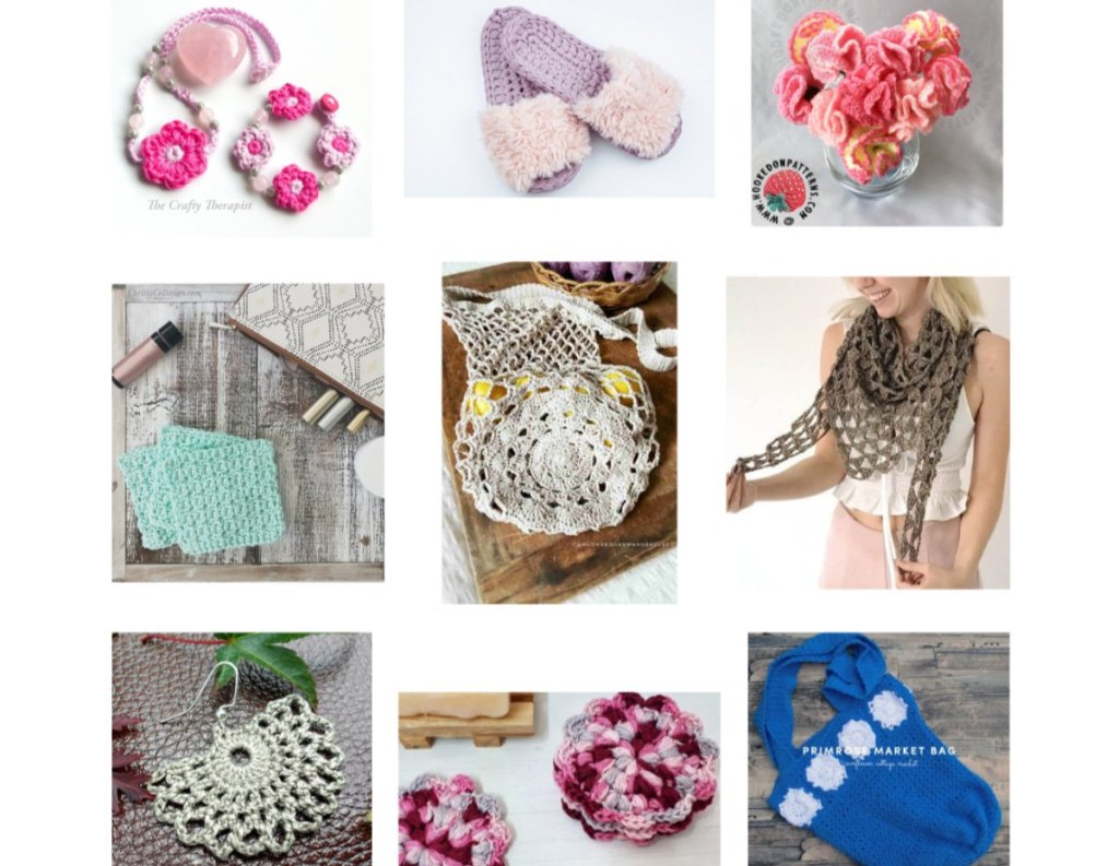 Collage crochet gift ideas