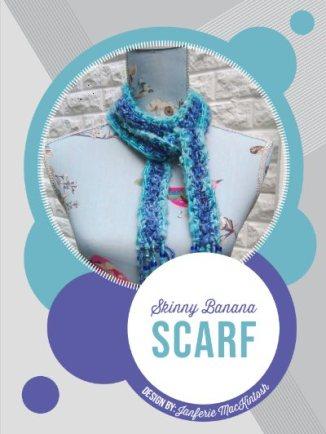 boho style crochet scarf in banana yarn, an eco-friendly pattern.