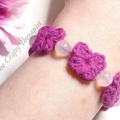 Butterfly Crochet Bracelet by The Crafty Therapist.