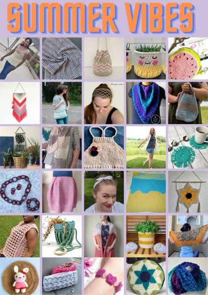 crochet bracelet pattern Summer Vibes offer graphic