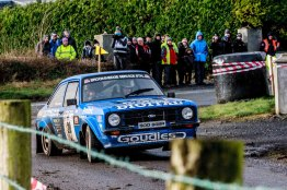Wesley Patterson/Johnny BairdFord Escort RS Mk2 with time 1:50:51.8 the winners of the National Category of Corrib Oil Galway International Rallly 2016. Saturday 6th February Stage at Corcally Beg. Photo by Darius Ivan, sponsored by Mileage Tyres Galway, www.mileagetyresgalway.ie