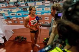 Canadian Melissa BISHOP landing for gold with time 2:00.60 leaving Adelle TRACEY 2:02.34 GBR second and Anastasiya TKACHUK Anastasiya 2:02.44 third at AIT GRAND PRIX 2016 Athlon IT. Photo by Darius Ivan www.irishtv.ie