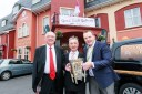 GAA giant Joe McDonagh pictured with 'Liam McCarthy Cup' and CEO of IrishTV Pierce O'Reilly before the live tv show #DreamForLiam from Lady Gregory hotel in September 2015. Photo Darius Ivan