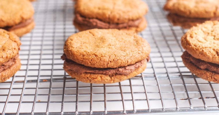 Almond Butter Cookies with Chocolate Buttercream