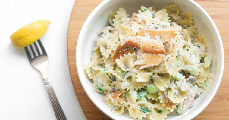 Smoked Trout Pasta Salad