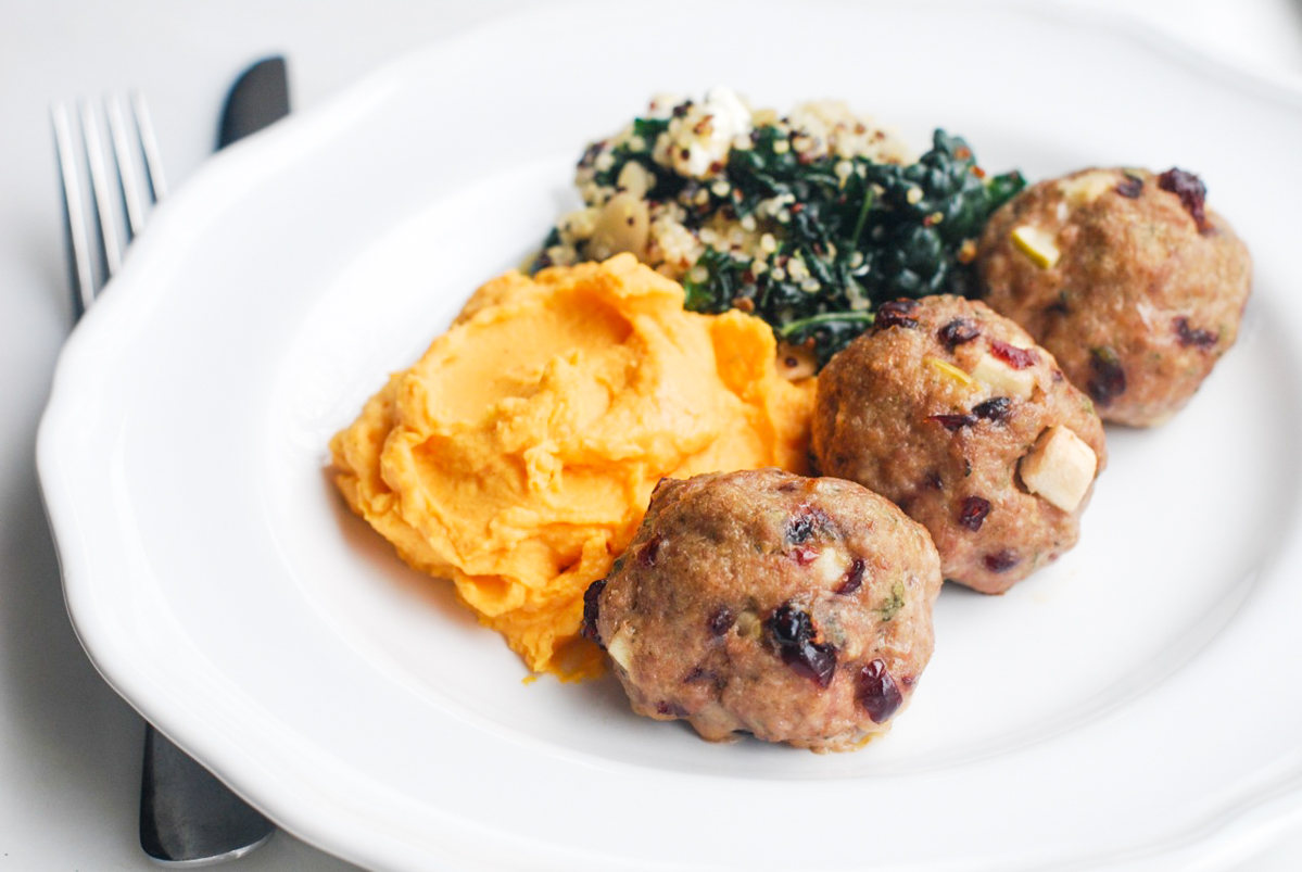 Turkey Apple Cranberry Meatballs