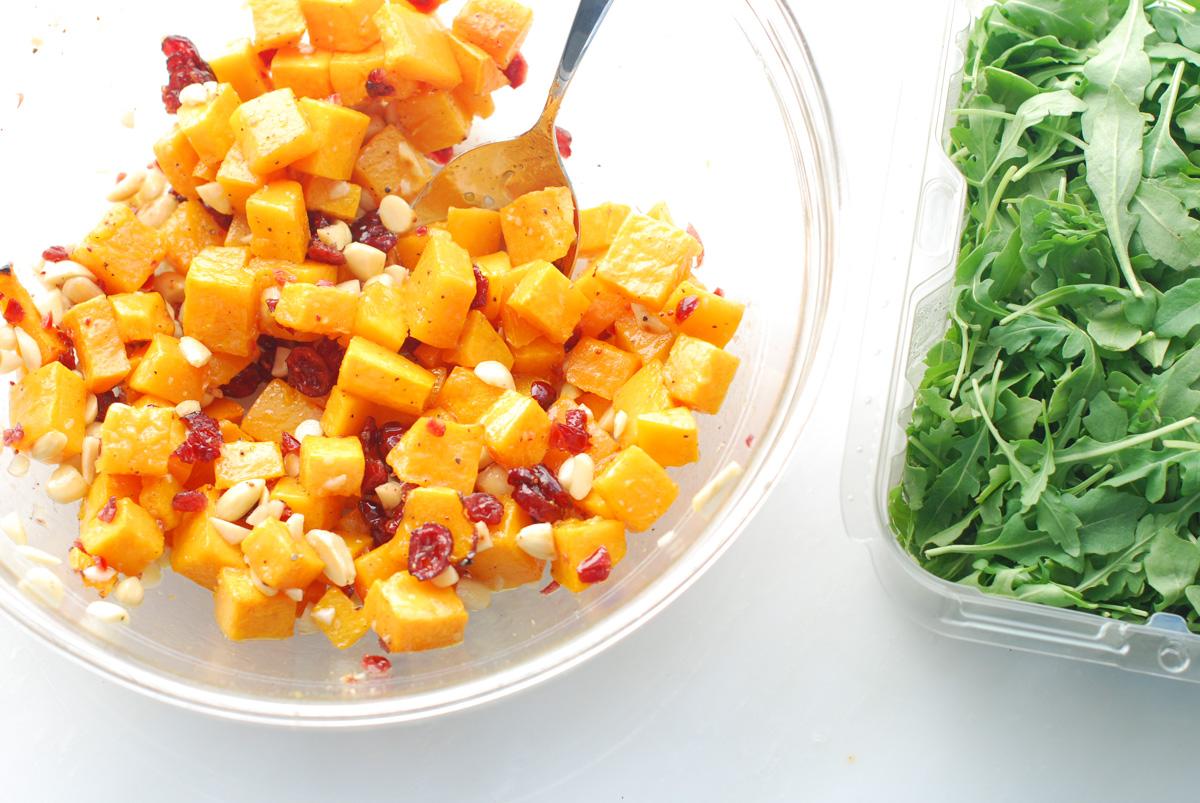Butternut Squash Arugula Salad