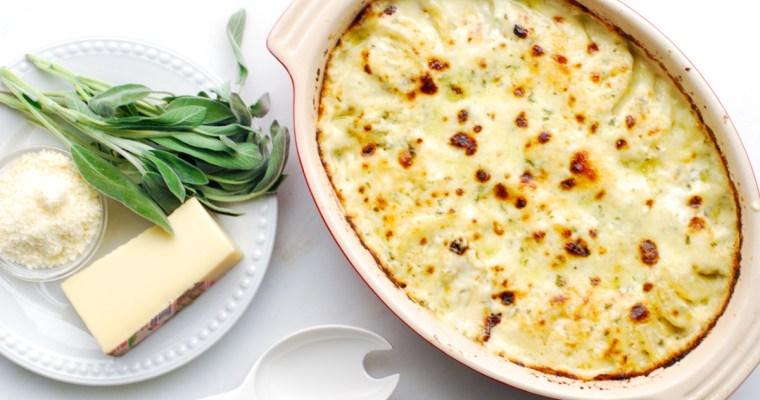 Cheesy Gruyere and Sage Potatoes