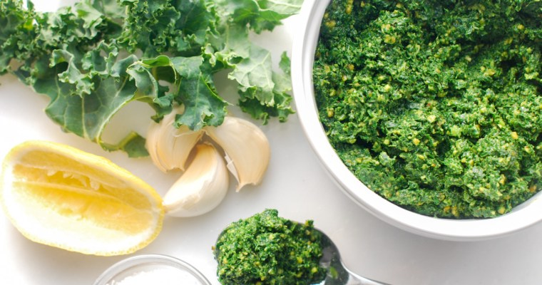 Incredibly Easy Kale and Pistachio Pesto