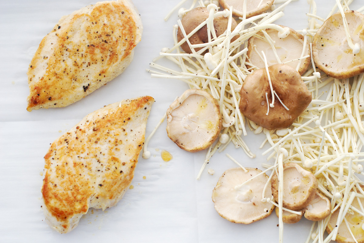 One-Pan Roasted Chicken with Mushrooms