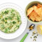 Healthy Snack Recipe: Avocado-Sweet Pea Hummus