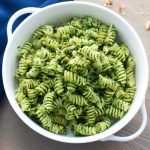 Green Olive and Walnut Pasta