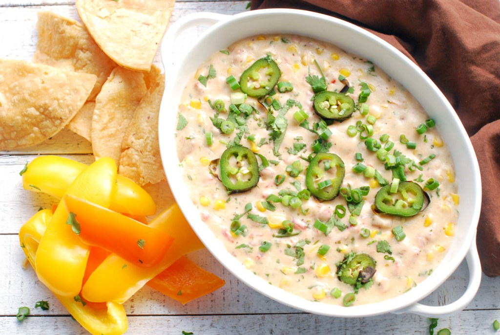 Roasted Garlic White Queso Dip