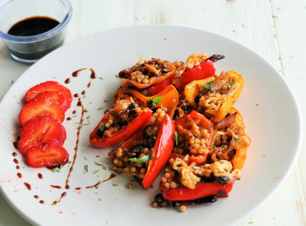 Healthy Snack: Black Bean Stuffed Mini Peppers Vegan Vigilante
