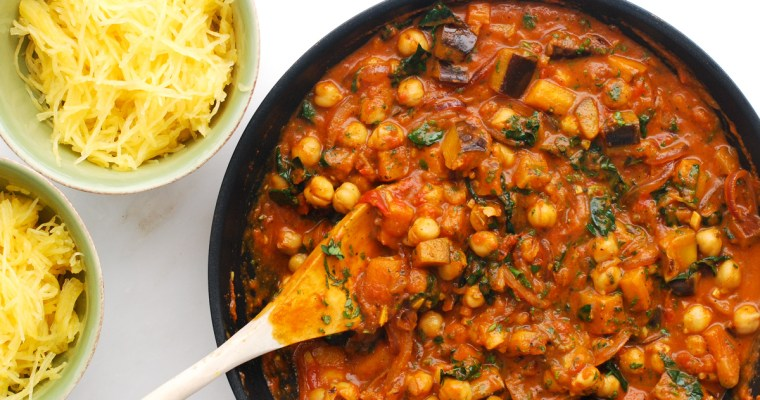 Curried Eggplant and Chickpeas