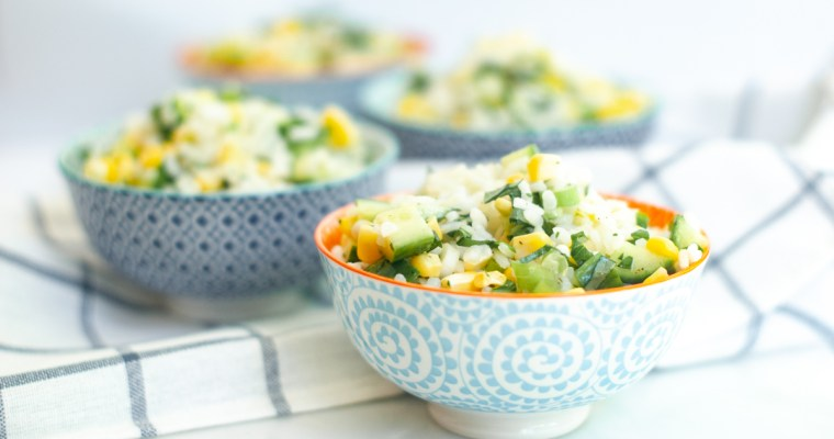 Corn and Basil Risotto Salad