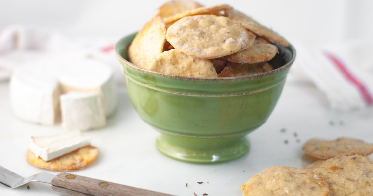 Homemade Carraway-Seed Crackers