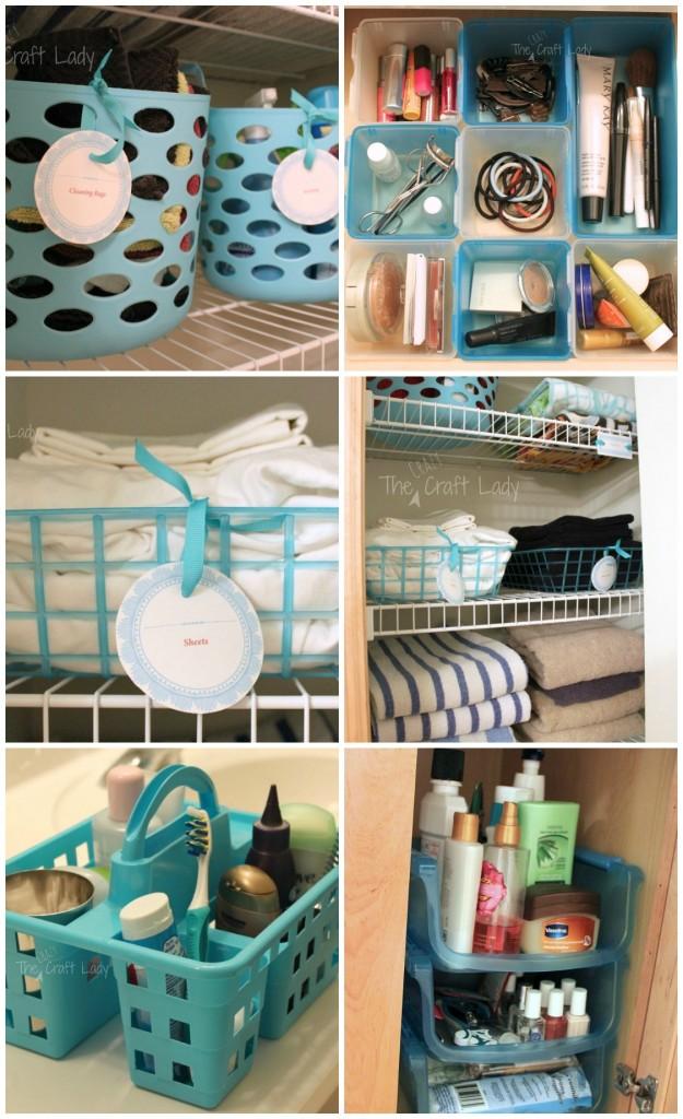 Dollar Store Bathroom Organizing