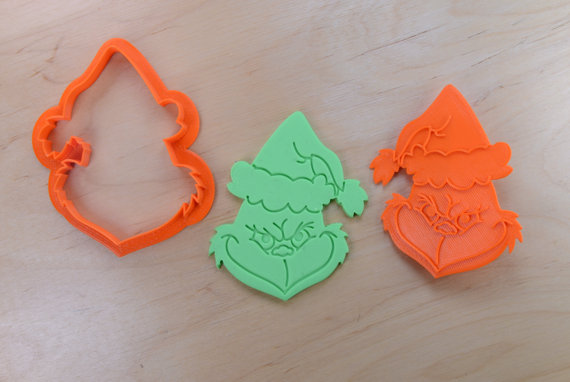 Grinch Cookie Cutter and Stamp Set