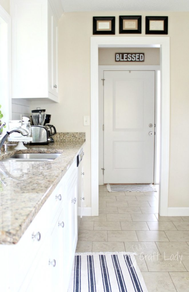 Framed Recipe Cards and a Simple Bright Farmhouse Kitchen