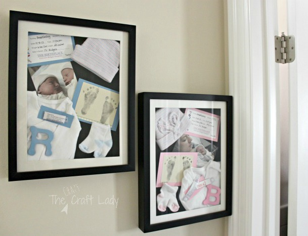 You won't believe how easy it is to make the perfect customized newborn shadow box.  Learn how to make a personalized baby shadow box with a few basic supplies and keepsakes!