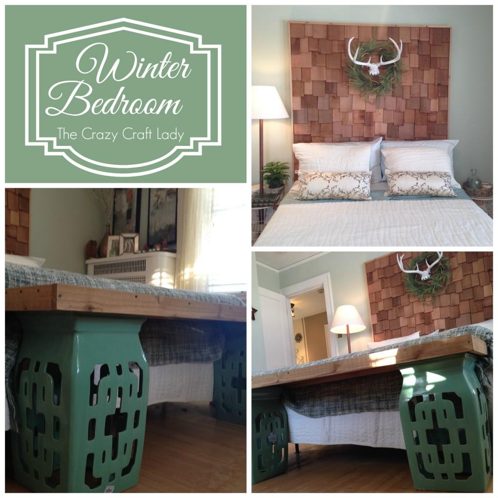 Winter Bedroom - Bachman's Winter 2013 Ideas House. thecrazycraftlady.com