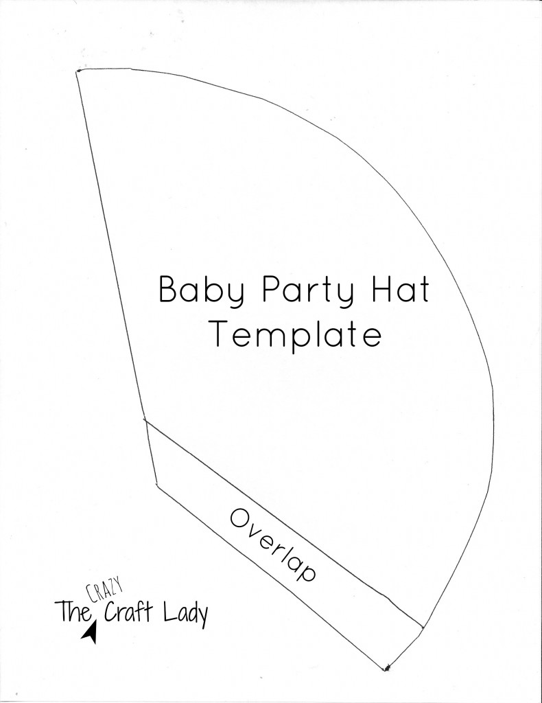 Baby Party Hat Template - The Crazy Craft Lady
