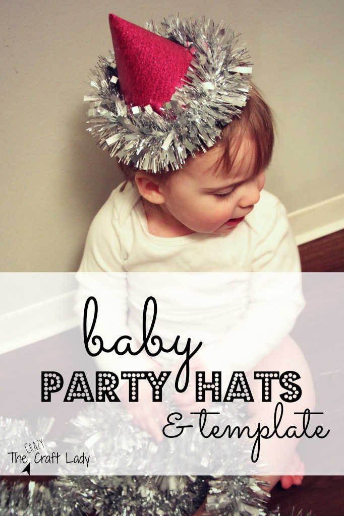 baby party hat and template
