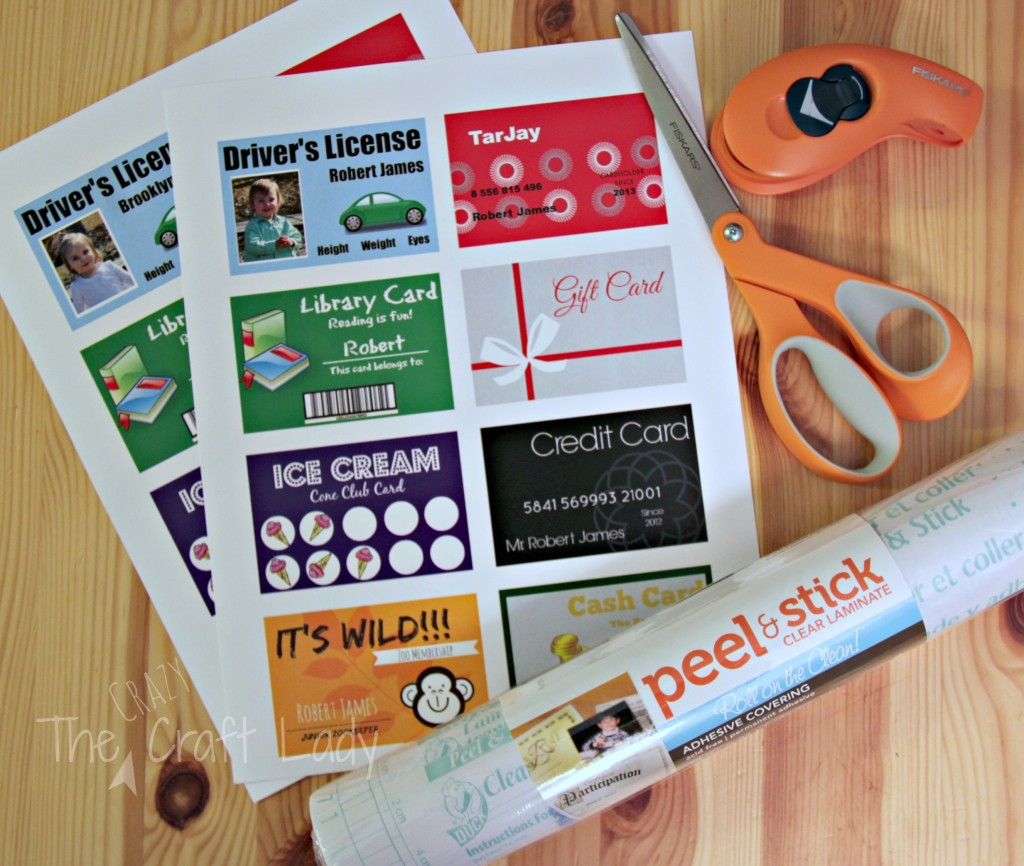 Printable (and customizable too!) Play Credit Cards.