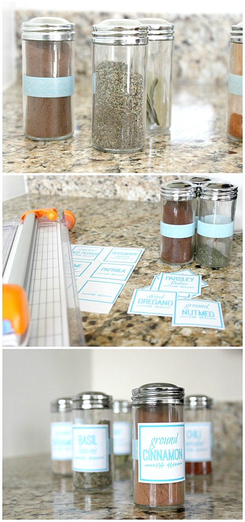 FREE Printable Spice Jar Labels: Make these DIY spice jar labels in PicMonkey and organize your spice drawer. Learn how to make custom labels in any color, font, or size - for FREE!