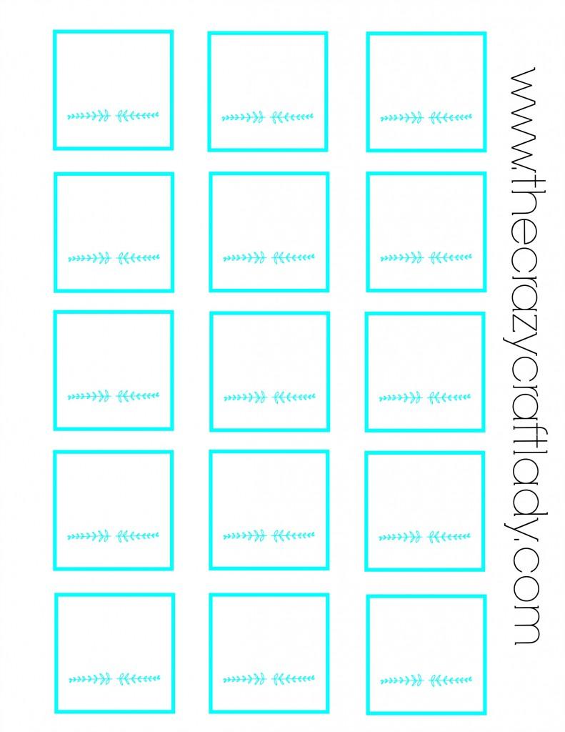 FREE Printable - blank spice jar labels