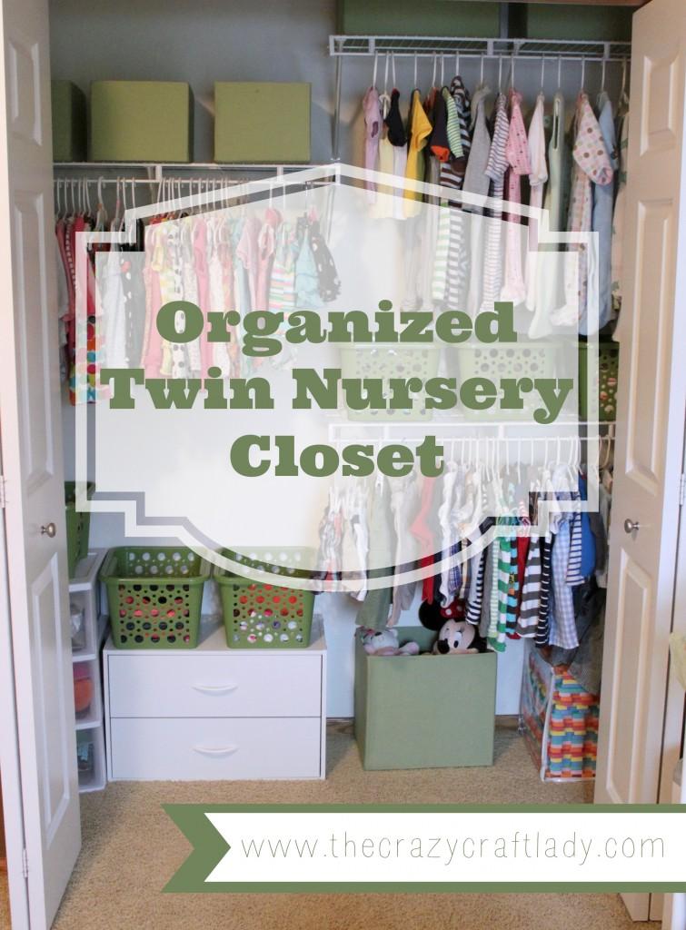 Organized Twin Nursery Closet