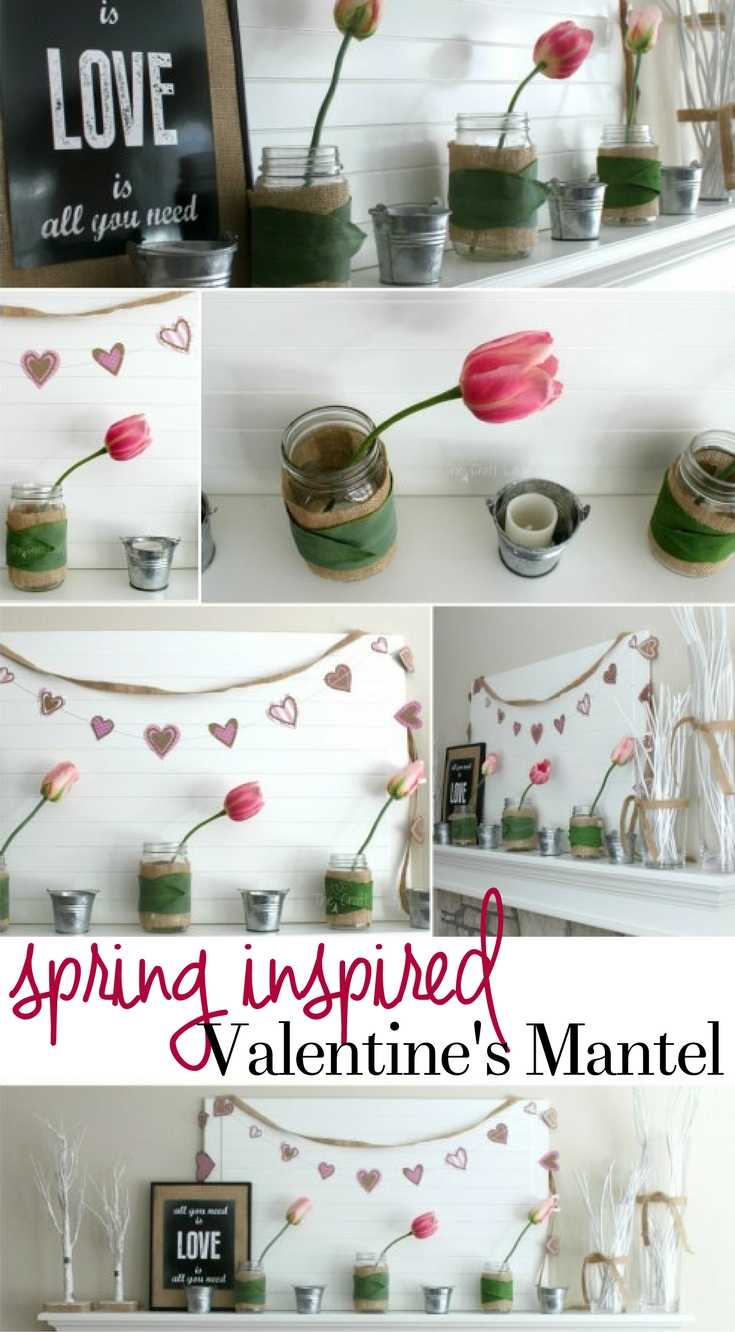 A Spring Inspired Valentines Mantel