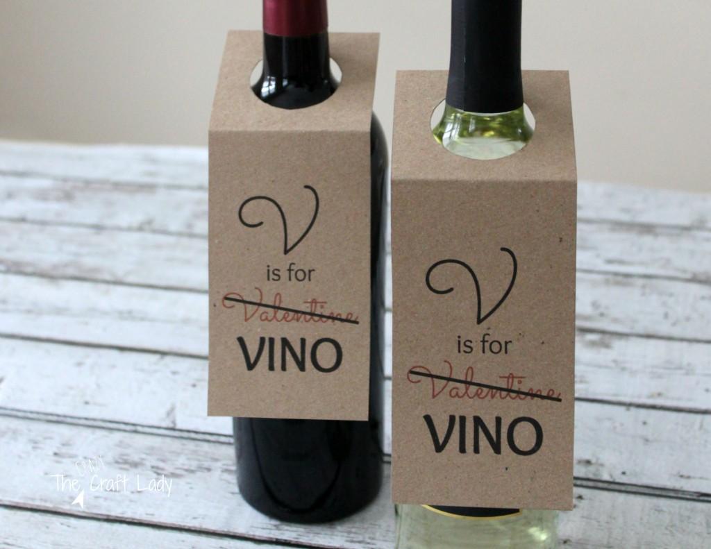 Free Printable Valentine Wine Tags