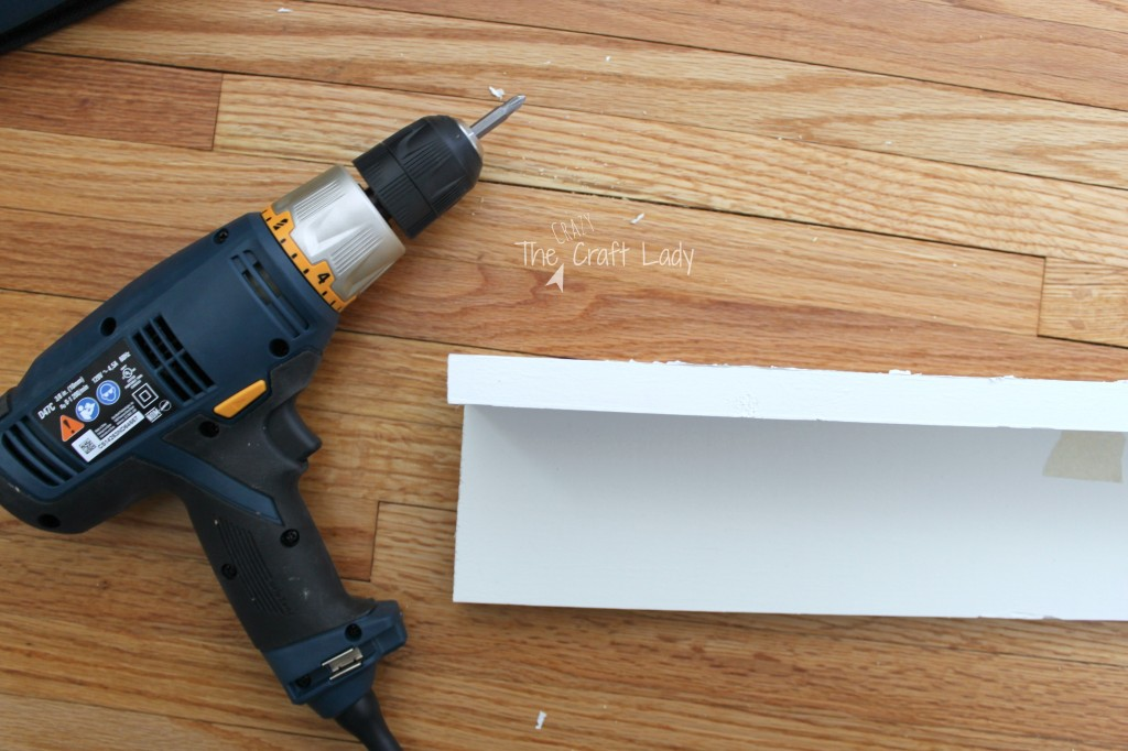 How to Make a Plank Entry Wall - Making a Shelf